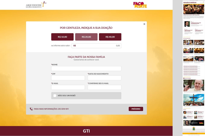 Portal Institucional, Paróquias e Santuários